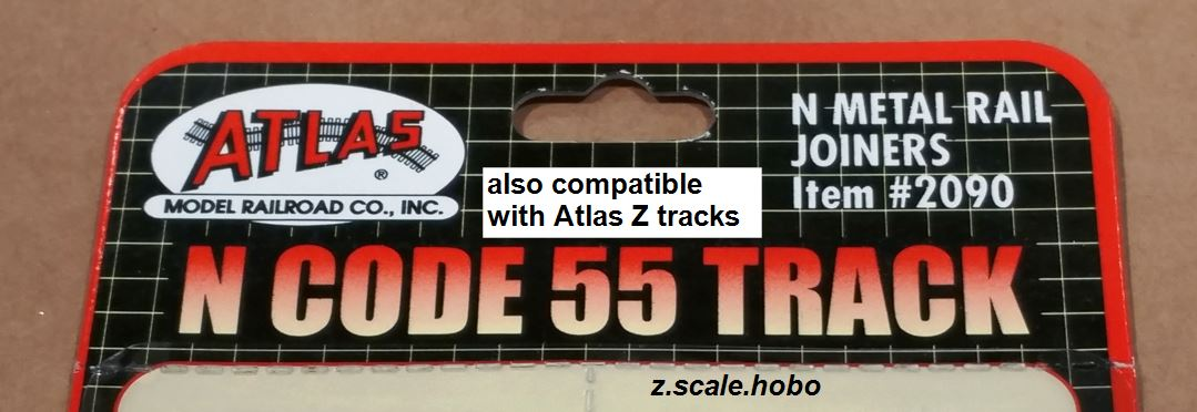 Atlas 2090 Metal Track Joiners: z scale hobo