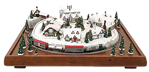 Micro Seasons North Pole Village Finished Train Set Z