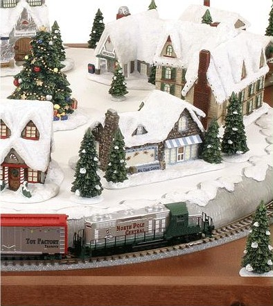Micro-Seasons North Pole Village Finished Train Set: z scale